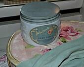 Debutante Hand Cream Jar- Milk Glass-Vanity Collectible- Boudoir Accessory