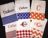 Best Baby Boy Gift! Burp Cloth Set of 6 Cloths baby gift feeding boy sports theme