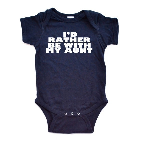 """Adorable Super Soft 100% Cotton Baby Bodysuit with Funny """"I'd Rather Be with my Aunt"""" Design Baby Clothes Cute Funny Gift Idea Niece Nephew"""