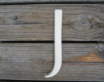 Salvaged Plastic Wall Letter - J - Wedding - Baby Room