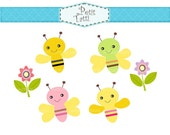ON SALE bee clip art clipart, bumble bee Digital clip art, bees clip art, instant download, clip art