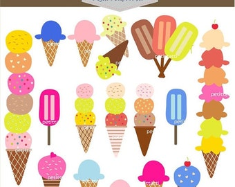 ON SALE ice cream clip art - Digital clip art - popular ice cream # instant download