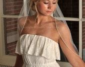 Rhinestone Veil - Wedding Veil, Rhinestone Veil, Crystal Veil, Elbow Length with Rhinestone Edge Trim