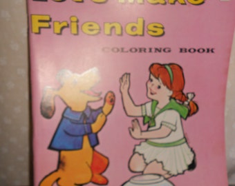 coloring book 1960's Lets Make Friends