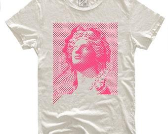 Pop Goddess, 100 Percent Cotton T-shirt, Vintage White, unisex