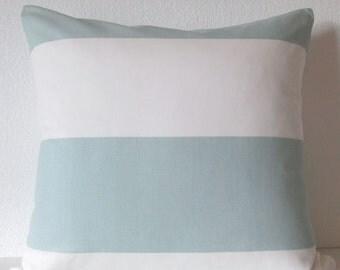 Pillow Cover - Snowy Blue - Cabana Stripe - light blue - white - Cushion Cover