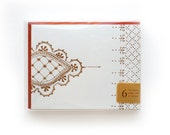 Henna No. 1 Letterpress Cards, set of 6