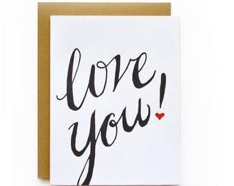 Love You! - letterpress card