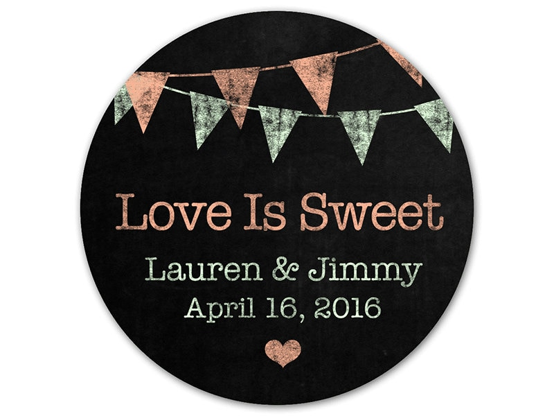 custom wedding favor stickers personalized favor labels