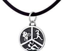 Triathlon Jewelry - Swim Bike Run Charm Necklace