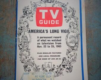 Vintage America's Long Vigil Tv Guide November 22-25 1963