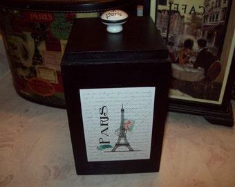 Paris Eiffel Tower storage box,Paris decor,Paris theme,Paris bathroom decor,Shabby chic,Paris nursery decor