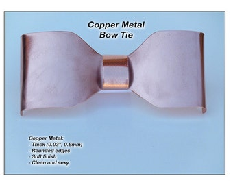 Copper Metal, Neck Bow Tie