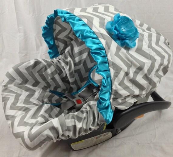 cotton chevron infant car seat cover cotton by ritzybabyoriginal. Black Bedroom Furniture Sets. Home Design Ideas