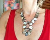 Mother of Pearl, Statement Necklace, Statement Pendant, Chunky, Modern, Contemporary