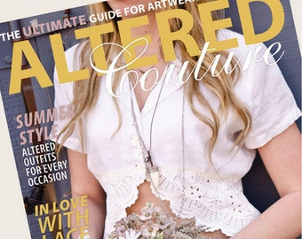 I've Been Publish in Altered Couture - 1960's Inspired Daisy Lace tunic with crochet from Italy  by Gina Louise-