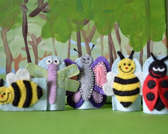 Bugs and Bees finger puppets