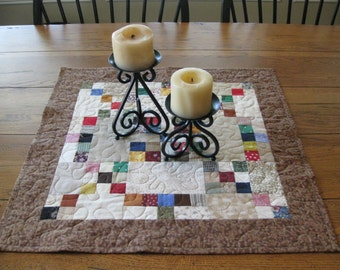 SALE Nine Patch Scrappy Table Topper