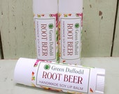 Rootbeer Soy Lip Balm Tube- Vegan - Green Daffodil