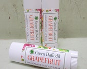 Grapefruit Soy Lip Balm Tube- Vegan - Green Daffodil