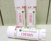 Cherry Soy Lip Balm Tube- Vegan - Green Daffodil