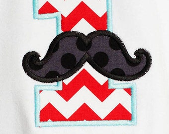 Baby Boy Mustache Birthday Outfit, Little Man Outfit, First Birthday, Red, Aqua, Custom, Bow Tie Party, Baby Boy Clothes, 1st Birthday