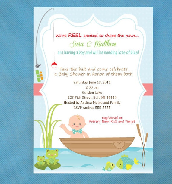 fishing baby shower invitations printed invitations and comes with
