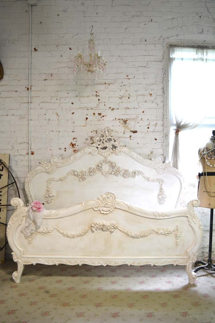 Painted Cottage Shabby Chic French Romantic Bed Queen King
