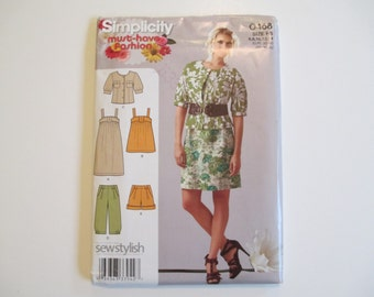 Misses' Dress, Top, Capri, Shorts, Jacket Pattern, Uncut, Sizes 6, 8, 10, 12, 14