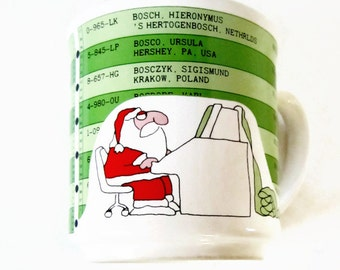 Sandra Boynton Christmas Mug Santa Claus NAUGHTY & NICE List