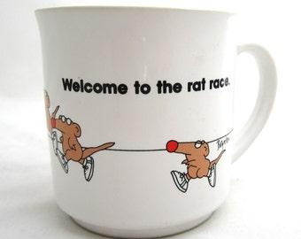 Sandra Boynton RAT RACE Coffee Mug Cup Japan