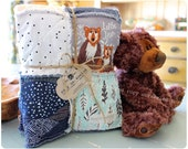 Rag Quilt CUSTOM for Baby BOY - Reversible - Any Color Any Pattern - Shower Gift