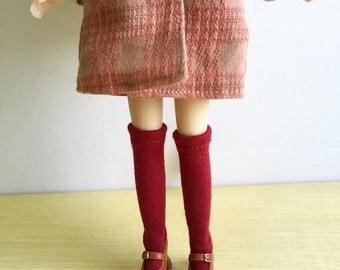 Blythe Long Sock, Red Velvet, Vintage Inspired