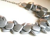 Silver Chunky Necklace, ACRYLIC Statement Necklace, Chunky Necklace, Bridesmaid Necklace, Etsy Weddings