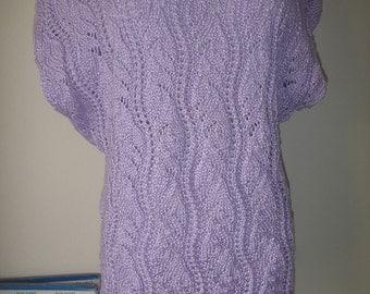 Lilac ajouree summer T-shirt no.45