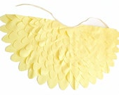 Yellow Wing Cape for Kids, Childrens Dress up Costume Wings, Halloween or Carnival Costume Accessory for Toddlers