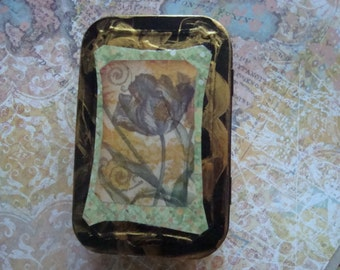 ALTERED ALTOID TIN - Tulip, Flower, Treasure Box