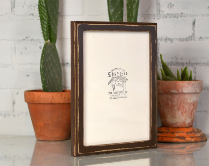"8.5 x 11"" Picture Frame in 1x1 Outside Cove Style and in Finish COLOR of YOUR CHOICE - Handmade 8.5x11 Letter Size Frame"