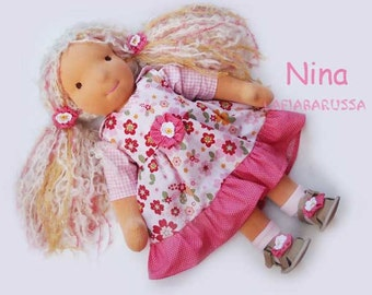 Waldorf cloth doll Nina 18 in - 47 cm