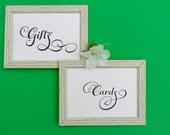 Printable Wedding SIgn, Cards & Gifts , INSTANT DOWNLOAD, Wedding Reception, DIY, Printable