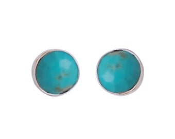 Gemstone Stud Earrings - Turquoise