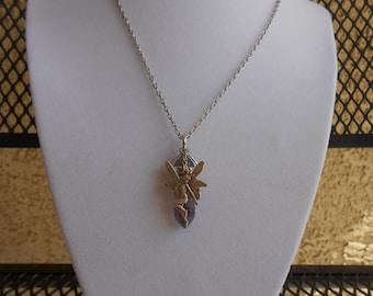 Rainbow Fluorite Fairy Necklace