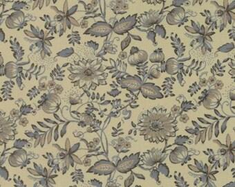 Bon Voyage Fabric French General Fabric Moda 13705 18 Floral Blue Fabric