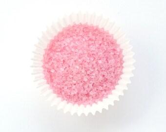 Pastel Pink Crystal Sanding Sugar, Light Pink Crystal Sugar, Pale Crystal Sugar Sprinkles (4 ounces)