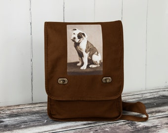 American Bulldog - Messenger Bag - Field Bag - School Bag - Java Brown - Canvas Bag