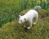 OOAK Kermode Spirit Bear Needle Felted Soft Sculpture