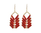 SALE Carnelian Large Arrow Earring, H14-A1L CAR