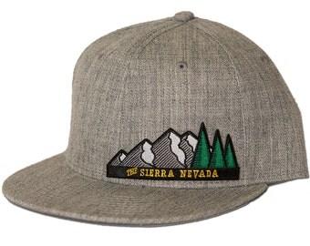 The Sierra Nevada - Snapback Heather Grey Hat - Pro Style Cap w/ Patch