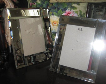 Pair of Beveled Mirror Picture Frames