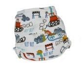 Fitted Cloth Diaper, OS, Flannel - Dinosaurs, Construction